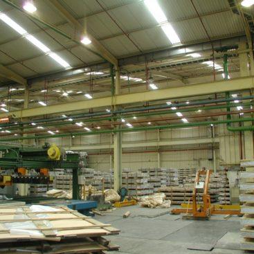 ΕΛΒΑΛ ΑΕ Αφαίρεση υποστυλώματος στο εργοστάσιο Οινοφύτων